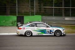 BMW M3 GT4 samochodowy ścigać się przy Monza Zdjęcie Stock