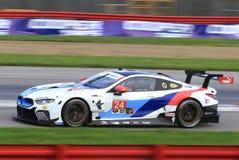 BMW M8 GTE Racing. 24 BMW Team RRL M8 GTE, IMSA, WeatherTech SportsCar Championship, Continental Tire Sports Car Challenge, Prototype, GT Le Mans GTLM, GT Royalty Free Stock Photos