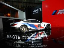 BMW M8 GTE sports car. 2018 Taipei auto show Royalty Free Stock Images