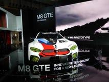 BMW M8 GTE sports car. 2018 Taipei auto show Stock Photos