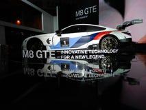 BMW M8 GTE sports car. 2018 Taipei auto show Royalty Free Stock Photos