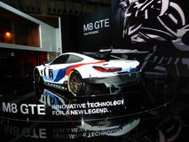 BMW M8 GTE sports car. 2018 Taipei auto show Stock Image