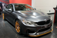 BMW M4 GTS Coupe. BRUSSELS - JAN 12, 2016: BMW M4 GTS Coupe shown at the Brussels Motor Show Stock Images