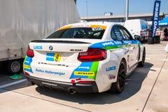 BMW M235i赛车 图库摄影
