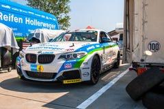 BMW M235i赛车 免版税图库摄影