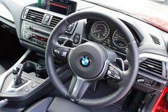 BMW M235i interior on May 15 2014 in Hong Kong. Royalty Free Stock Photos
