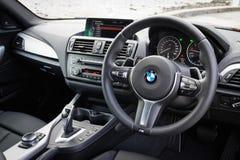 BMW M235i interior on May 15 2014 in Hong Kong. Stock Photos