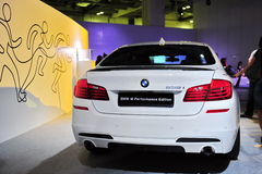 BMW M 535i Performance Edition sports car on display at BMW World 2014 Royalty Free Stock Photo