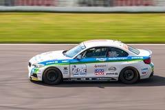 BMW M235i tävlings- bil Arkivfoton