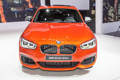 2015 BMW M135i xDrive. Presented the 85th International Geneva Motor Show Stock Images