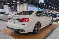 BMW M760Li xDrive V12 στην επίδειξη στοκ φωτογραφία με δικαίωμα ελεύθερης χρήσης
