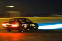 BMW M3, Niemieccy legendarni sporty nastrajał samochodowy ścigać się przy Chayka obwodem, nocy rasa, Kyiv Ukraina, 09 04 2016, re Fotografia Stock