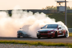 BMW M6 & Nissan Silvia drift cars Stock Photos