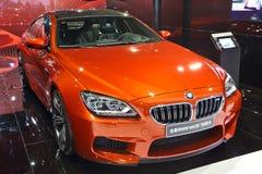 BMW M6. The orange BMW M6 in Auto show Guangzhou 2013 Stock Photography