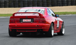 BMW M8 race car. A classic 1993 5.6 liter BMW M8 race car featuring in the Annual Classic Musclecar Festival in New Zealand Royalty Free Stock Photo