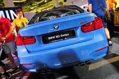 BMW M3 Sedan on display at BMW World 2014 Stock Images