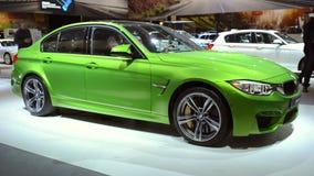 BMW M3 sedan high performance sedan stock video footage
