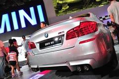 BMW M5 sports sedan on display at BMW World 2014 Stock Photography