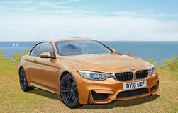 Bmw m4 sportscar. Photo of a high performance bmw m4 sportscar on display at whitstable car show 23rd july 2017 Stock Photography