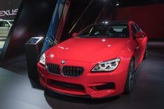BMW M6 su esposizione durante l'esposizione automatica della LA Immagine Stock Libera da Diritti