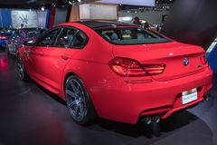BMW M6 su esposizione durante l'esposizione automatica della LA Fotografia Stock Libera da Diritti