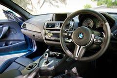 BMW M2 2016 wnętrze Zdjęcia Stock