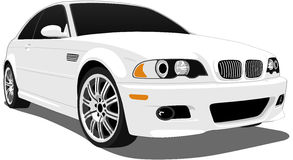 BMW M3. A Vector . eps illustration of a BMW M3 Coupe. Saved in layers for easy editing. See my portfolio for more automotive images stock illustration