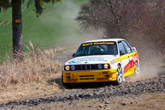BMW M3 in actie Stock Foto