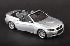 BMW M3 convertible. Silver bmw m3 on a dark background Royalty Free Stock Photos