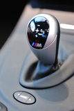 BMW M3 coupe gear stick Royalty Free Stock Photo