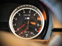 BMW M3 coupe tachometer Stock Photo