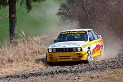 BMW M3 en la acción foto de archivo