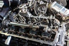 BMW-Maschinenabschluß oben Stockfoto