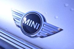 BMW Mini badge on car Royalty Free Stock Images