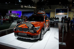BMW X model Powder Ride. Front view on showroom floor Stock Photography