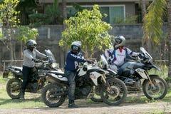 BMW MOTORAT THAILAND Driving teaching BMW GS 800 at June 6, 2015 Royalty Free Stock Images
