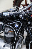 BMW Motorcycle Engine. VILNIUS, LITHUANIA - APRIL 29, 2015: Close up detailed view of BMW motorcycle engine, which was established in 1913 by Karl Frederich Rapp Royalty Free Stock Photo