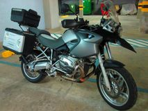 BMW motorcycle 1200 gs . Royalty Free Stock Photo