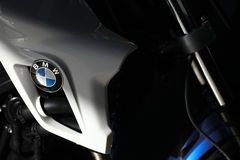 BMW motorcycle tank Stock Photo