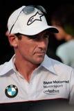 BMW Motorrad Motorsport de BMW S1000RR de Troy Corser Images libres de droits