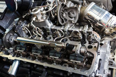 BMW motorslut upp Arkivfoto