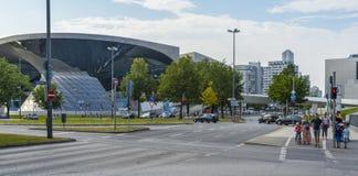 BMW museum area Stock Photo