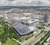 BMW museum and the BMW factory, Munich. Stock Photos