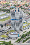 BMW museum and the BMW factory, Munich. Royalty Free Stock Image