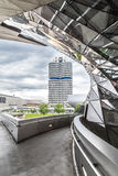 BMW museum and the BMW factory, Munich. Stock Photo