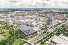 BMW museum och BMW fabriken, Munich Arkivfoto