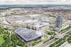BMW-Museum und die BMW-Fabrik, München Stockfotos