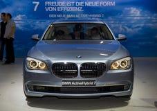 BMW neue 7 äh Baumuster, Mischling lizenzfreies stockfoto