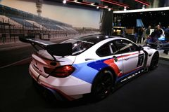 BMW 2018 novo M6 GT3 na exposição na feira automóvel internacional norte-americana Foto de Stock