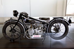 BMW Old Motorcycle. A classic motorcycle inside the BMW museum in Munich Stock Images